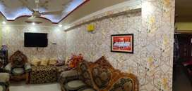 A 3 bhk well maintained 3 bhk semi furnished flat in Boring Road .
