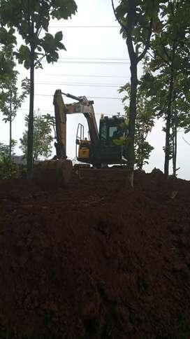 Stripping tanah land clearing cut and fill pengurugan excavator beko