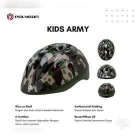 Helm Sepeda Anak Merk Polygon Tipe Army