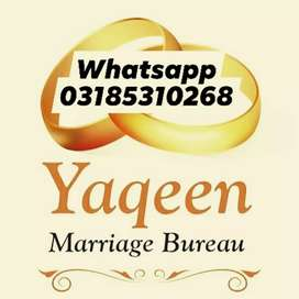 Yaqeen Marriage Bureau, educated and respected rishtas fsahiwal,lahore
