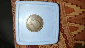 Old 1893 Queen Victoria Coin One Quarter Anna