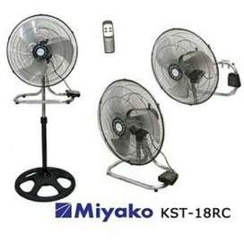 Miyako Kipas Angin Besi 3in1 Multi Fan Remote Control KST-18RC