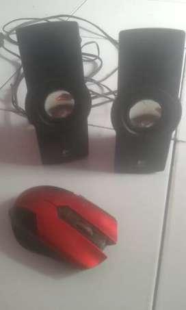 Mouse + speaker