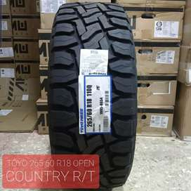 Ban murah Toyo Tires lebar 265 60 R18 Open Country RT Fortuner Pajero.