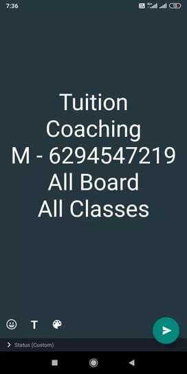 """Tuition """" coaching """" Tutor"""