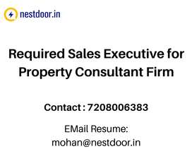 Required Sales Executive for Property Consultant Firm
