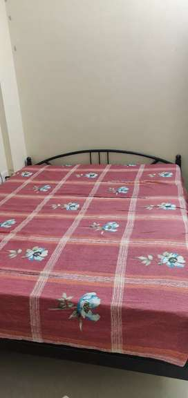 Queen size Bed frame and Spring mattress
