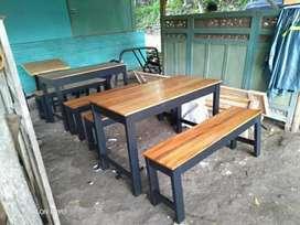 Jual meja makan/ meja set cafe