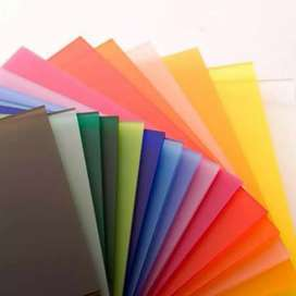 Acrylic 6mm Solid Colour Warna uk.triplek Adiwarna Tangerang