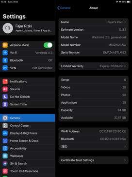 Ipad mini 5 wifi only 64gb space gray