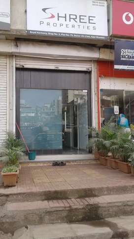 Ulwe - shop on sale - sec 19 - ready possession - 15 mtr road