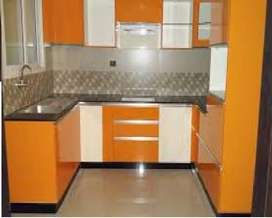 new designer modular kitchen in low price , free demo available