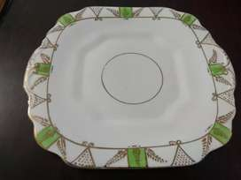 Gold plated decorated plate