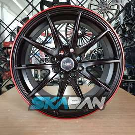 Jual Velg Racing HSR G Point FC Ring 15 Brio Yaris Agya Mirage March