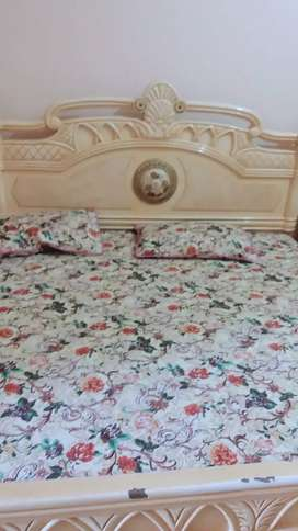 Complete Bed with slider along with dressing and cupboard
