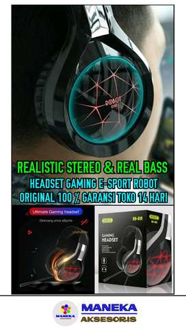 Headset Ultimate RHG10+Mic Gaming Realistic Bass & Stereo Left Right