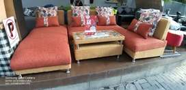 Sofa kursi Murah Sale + Meja Tamu , Kredit / Tukar Tambah