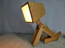 Desk Dog wooden lamp