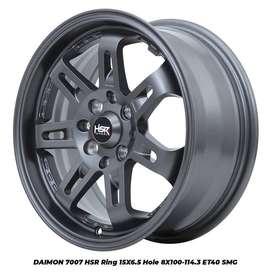 JUAL VELG HSR RACING R15 LEBAR 65 LUBANG 4X100-4X1143 GRAY