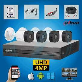 4 CCTV cameras 5MP complete package
