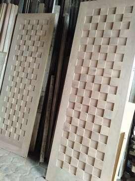 pintu model catur modern dari kayu bekas kamper yg berkualitas