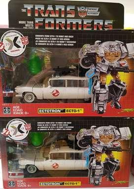 Transformers Ghostbuster Ecto 1 Ectotron Optimus Prime Hasbro Taktom