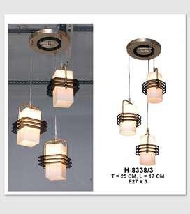 Lampu hias gantung minimalis dekorasi meja makan 8335/3 8338/3 - KOTAK
