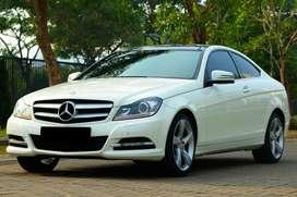 Mercedes Benz C250 Coupe 2012 White on Black Low Odo! 320i 328i e250