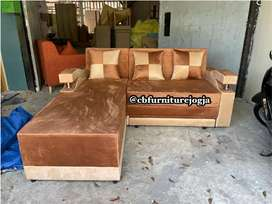 Sofa L bed , bisa request warnanya