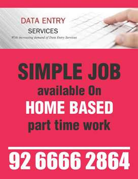Data entry work home based job required(male and female)