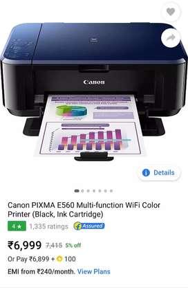 canon e560 multi function colour printer