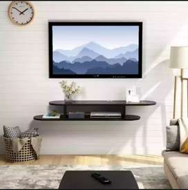 2 Tier Mounted Media console floating LCD shalf
