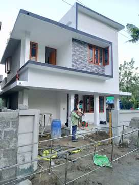 3 bhk 1300 sqft new build house at paravoor town near kizhakkepuram