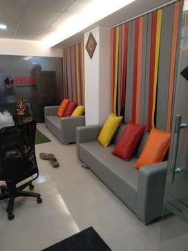500to 10000 sq fit fully furnish