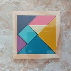 Mainan anak jigsaw kayu russian block wood intellegence / balok tetris