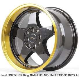 LOUD JD805 HSR R16X8/9 H8X100-114,3 ET35/30 BK/GOLD