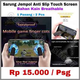 Sarung Jempol Touch Screen Anti Slip Mobile Game Finger Cots READYSTOK