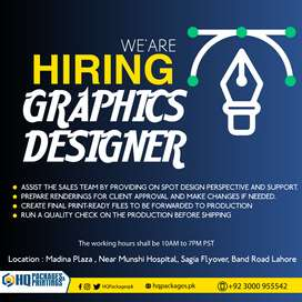 Graphics Designer at HQ Packages Printing Company