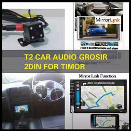 For TIMOR 2din android link led 7inc full hd+camera hd harga grosir