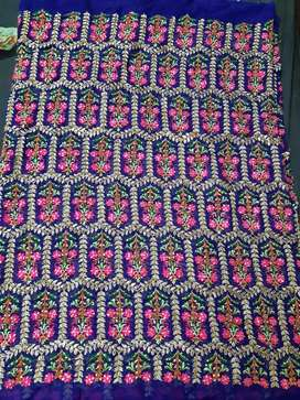 New unstitched shirt peice with sharara.
