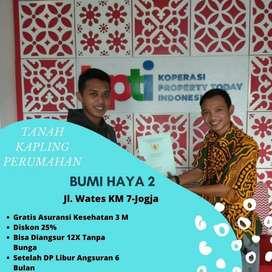 Tanah Murah Jl. Wates KM 7 Pinggir Jalan Aspal