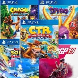 Crash team racing crash bandicoot spyro sonic moto gp 19 untuk ps4