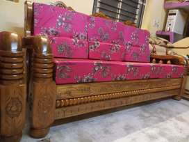 3+1+1(Brand New)PURE mysore teakwood wooden sofa set with cushions