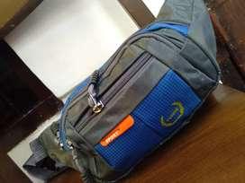 Waistbag Tas Selempang Sporty Blue Ranger Zidan Homeshop