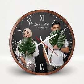 Jam dinding kado pernikahan custom foto hadiah anniversary - FFRC