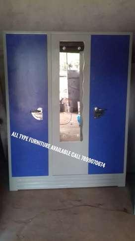 Full Metal 3 door almara with  mirror good quality all type furniture