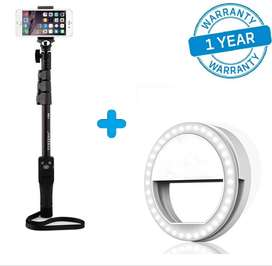Pack of 2 Yunteng Selfie Stick & Selfie Ring Light