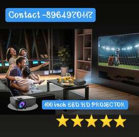 100Inch LED HD Projector Watch TV Movies on Big Screen Connect Mobile