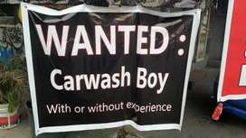 Car wash boy