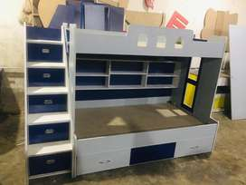 Grey style Bunk bed for kids